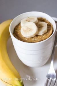 Havermout mug cake met banaan