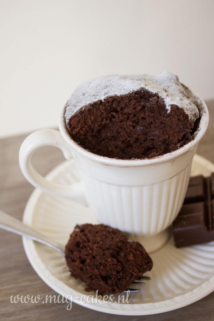 Mini chocolade mug cake zonder ei
