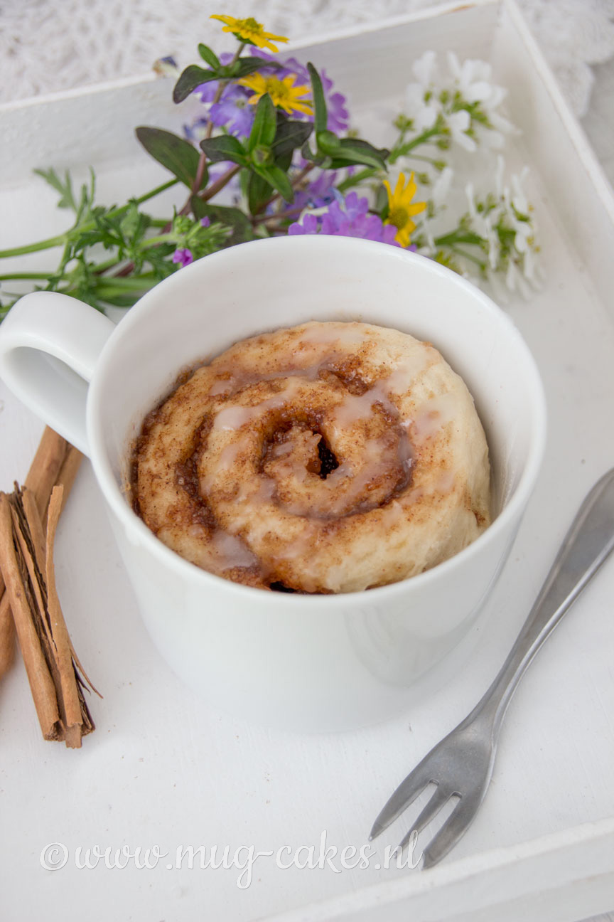 Cinnamon Roll Mug Cake Zonder Ei