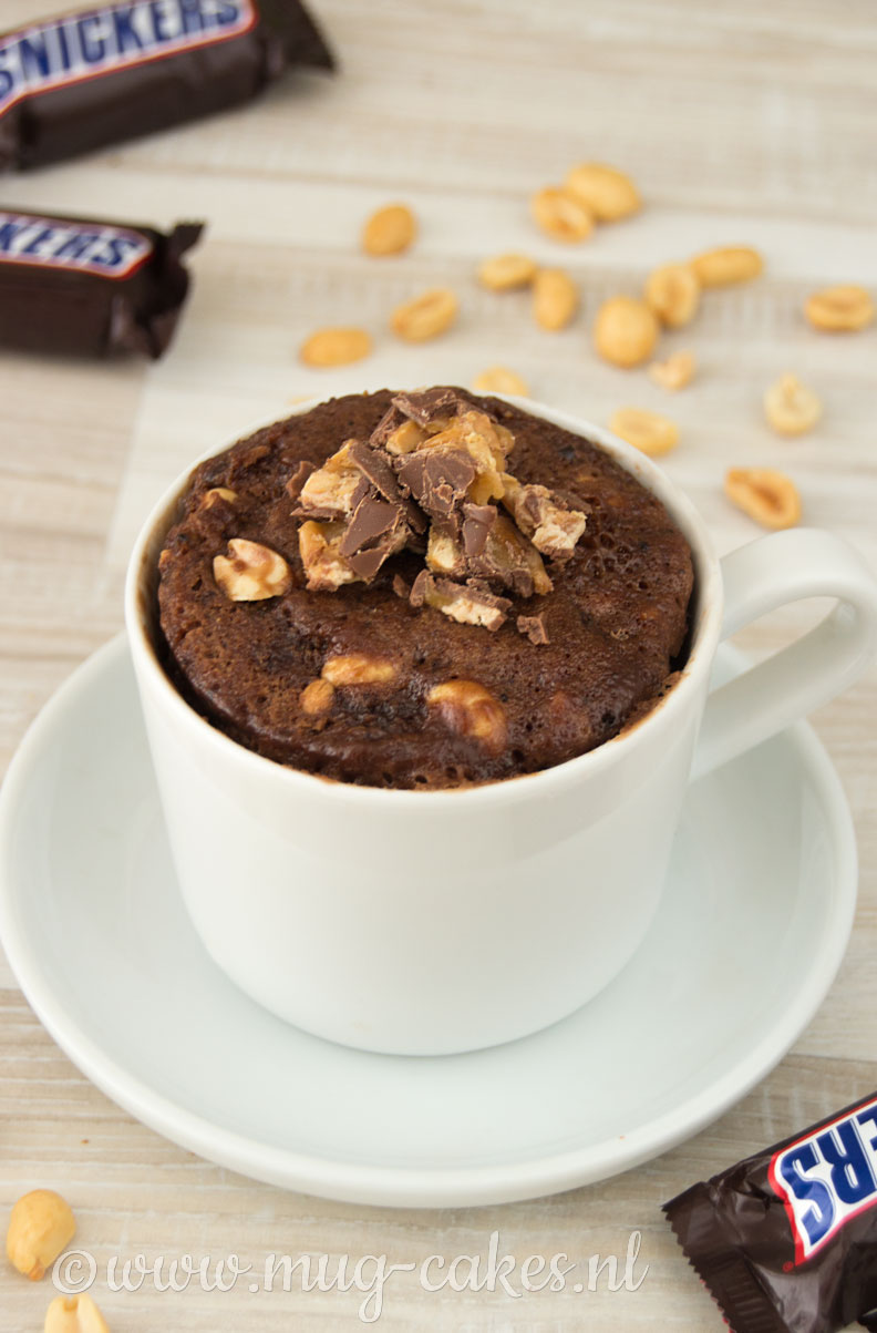 Chocolade Mug Cake met Snickers