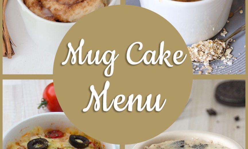 Mug Cake Menu
