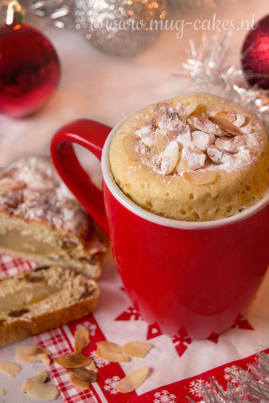 Kerst Mug Cake met Amandelspijs