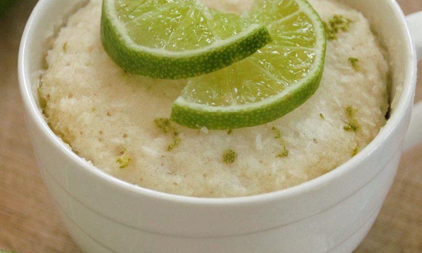Limoen kokos mug cake zonder ei